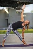 Healthy yoga fitness Stock Photography