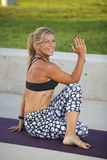 Healthy yoga fitness Stock Images
