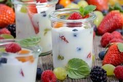 Healthy yogurt Royalty Free Stock Images