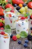 Healthy yogurt Stock Image