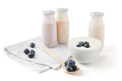 Healthy yogurts Stock Images