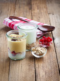 Healthy yougurt with berry Royalty Free Stock Photography