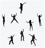 Healthy Young Active dance jumping people Royalty Free Stock Photos