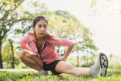 Free Healthy Young Asian Woman Exercising At Park. Fit Young Woman Doing Training Workout In Morning. Royalty Free Stock Photo - 107278705