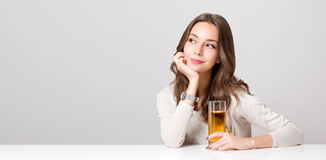 Healthy young brunette beauty. Stock Image