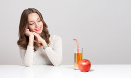 Healthy young brunette beauty. Stock Photography