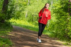 Healthy young female athlete running Royalty Free Stock Photography