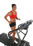 Healthy Young Female Workout on Treadmill Royalty Free Stock Photo
