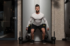 Healthy Young Man Doing Exercise For Back Stock Images