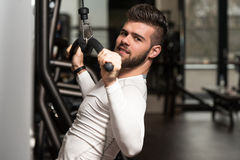 Healthy Young Man Doing Exercise For Back Royalty Free Stock Photos