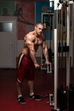 Healthy Young Man Doing Exercise For Triceps Stock Photography