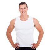 Healthy young man. Portrait of healthy young man posing on white background Stock Images