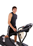 Healthy Young Man Workout on T Royalty Free Stock Images