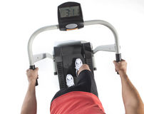 Healthy Young Man Workout on Treadmill Stock Image