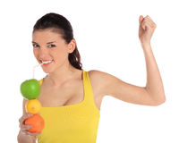Healthy young woman Stock Photo