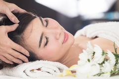 Healthy and young woman is getting spa treatment. Royalty Free Stock Image