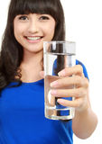 Healthy Young Woman with glass of fresh Water Stock Photography