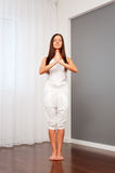 Healthy young woman meditate Royalty Free Stock Photo
