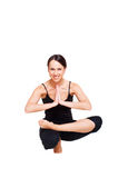 Healthy young woman practicing yoga Stock Image