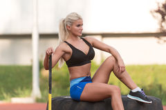 Healthy Young Woman Resting After Exercise Royalty Free Stock Image