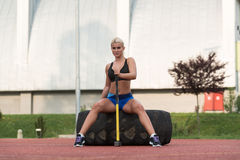 Healthy Young Woman Resting After Exercise Royalty Free Stock Photography