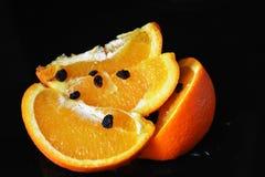 Healtt y naranja jugosa Imagenes de archivo