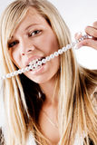 Healty aljofara los dientes Fotografía de archivo libre de regalías