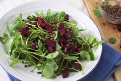 Healty Beetroot Salad Stock Photo
