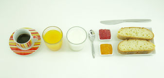 Healthy breakfast composition Royalty Free Stock Images