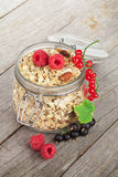Healty breakfast with muesli and berries Royalty Free Stock Image