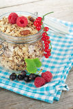 Healty breakfast with muesli and berries Royalty Free Stock Photography