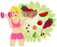 Healty Diet concept Woman Isolated Royalty Free Stock Photo