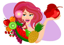 Diet concept Woman Royalty Free Stock Photography
