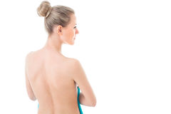Healty Female body, showering, clean and fresh skin concept. Nak Royalty Free Stock Photography