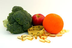 Healty Food And Supplement Royalty Free Stock Image