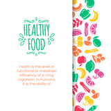 Healty food background representing. Vegetables and fruits icons Royalty Free Stock Images