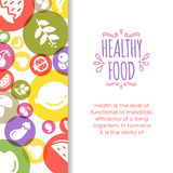 Healty food background representing. Vegetables and fruits icons Stock Photography