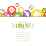 Healty food background representing. Vegetables and fruits icons Royalty Free Stock Image