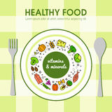 Healty food background representing Royalty Free Stock Photo