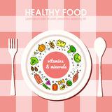 Healty food background representing Royalty Free Stock Photos