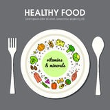 Healty food background representing Stock Photos