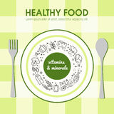 Healty food background representing Stock Images
