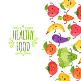 Healty food cartoon. Healty food cartoon representing some funny vegetables Stock Photo