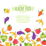 Healty food cartoon representing. Some funny vegetables Royalty Free Stock Image