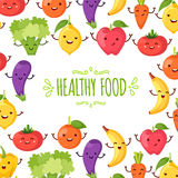 Healty food cartoon representing. Some funny vegetables Royalty Free Stock Images