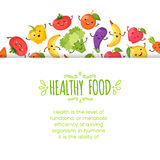Healty food cartoon representing. Some funny vegetables Stock Photography