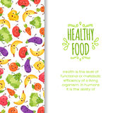 Healty food cartoon representing. Some funny vegetables Royalty Free Stock Photos
