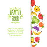 Healty food cartoon representing. Some funny vegetables Royalty Free Stock Photo
