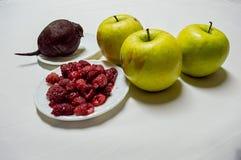 Healty Food Green Apples , Raspberries and Beet Royalty Free Stock Photo