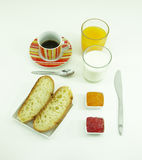 Healty-Frühstückszusammensetzung lizenzfreies stockbild